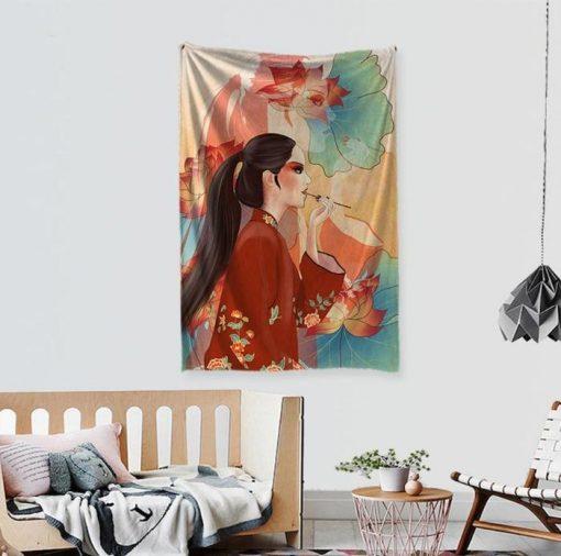 Wandbehang Chinesische Schönheit