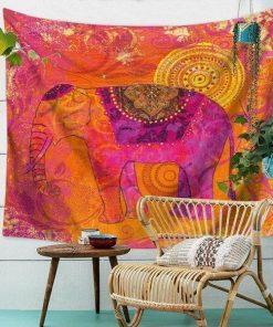 Wandbehang Rosa Elefant