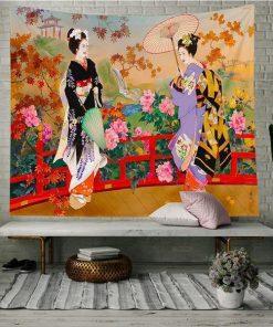 Geisha Wandbehang