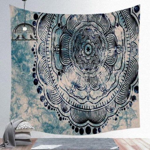 Grau Mandala Wandbehang
